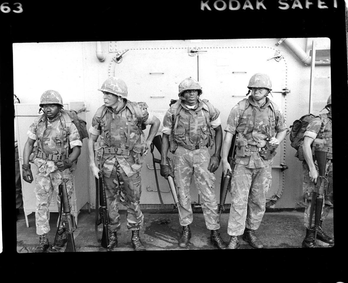 Marines preparing to go in to Beirut. 1982?