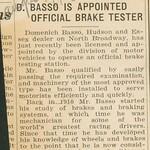 1930, Official Brake Tester