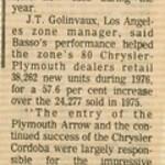 1977, Top-Volume Dealer