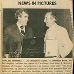 1978, Award from Chrysler