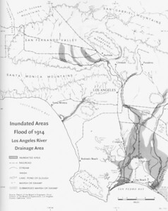 1914, LA River Flood Map