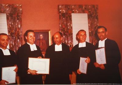 1957, Receiving Religion Diplomas