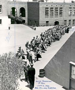 1949, Graduation Procession