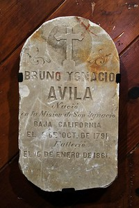 1861, Bruno Ygnacio Avila Tombstone