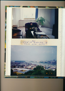 June 1995   Budapest - Vienna - Prague  Bottom Photo:   View of Danube from our suite