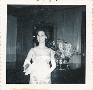 Nancy - home. June 1963. prom.