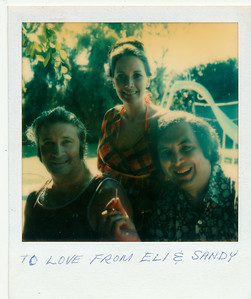 Eli, Nancy, Sandy Wein home, early 70s