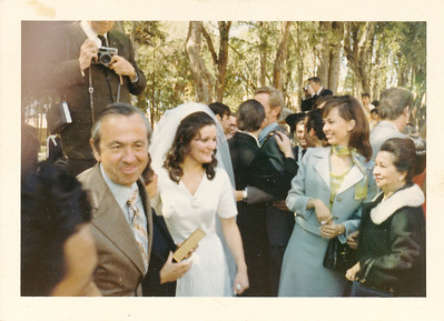 Urrutia's home. their daughters wedding. in Mexico. late 60s