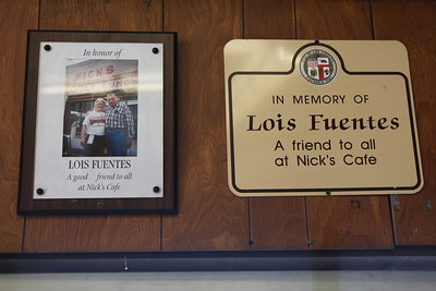 2010, Lois Fuentes Memorial on Wall