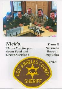 2010, Sheriffs Say Thanks