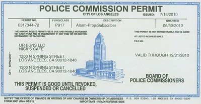 2010, Police Commission Permit