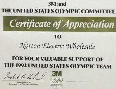 1992, Olympics Certificate