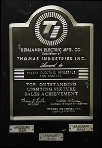 1981-83, Benjamin Electric Award