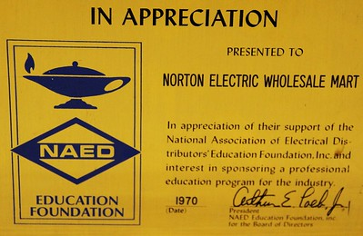 1970, NAED Education Foundation Award
