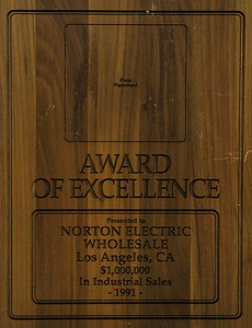 1991, Award of Excellence