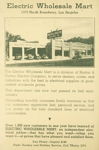 Electric Wholesale Mart Ad