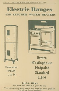 Electric Ranges and Water Heaters