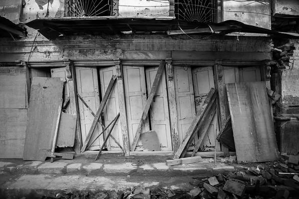 Damaged house in Bhaktapur.
