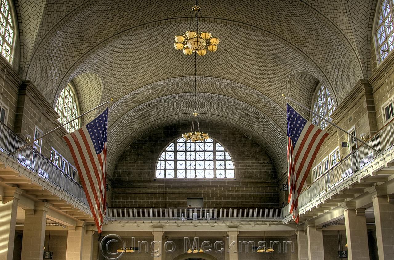 Ellis Island reception hall