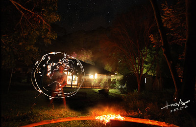 """""""Earth at Night"""" - Self Timed Long Exposure Fire Painting by EarthNative"""