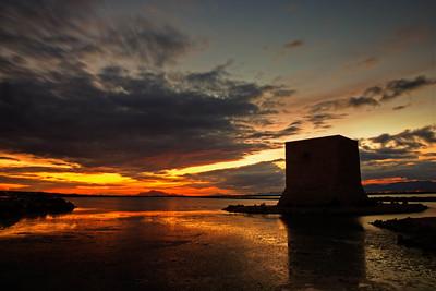 Mediterranean Sunset over the Salt Marshes of Santa Pola (III)