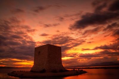 Mediterranean Sunset over the Salt Marshes of Santa Pola (II)
