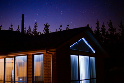 Night Sky with House, Auckland 2014