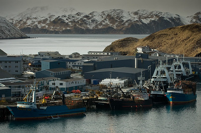 Dutch Harbor, Alaska, home to the Alaska pollock and crab fishing fleets