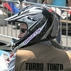 "Kevin Fusselman, sporting a ""Turbo Tonto"" vest as part of The Lone Hacker theme, readies for Saturday's 20-lap race."