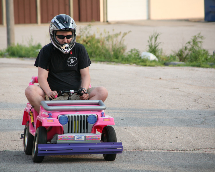 Kevin Fusselman takes the Jeep out for a test drive.