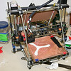 The Makery's RepRap Mendel 3D printer.