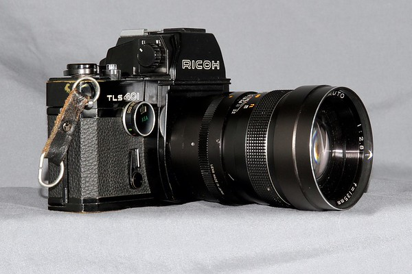 The Ricoh with the 135mm attached.