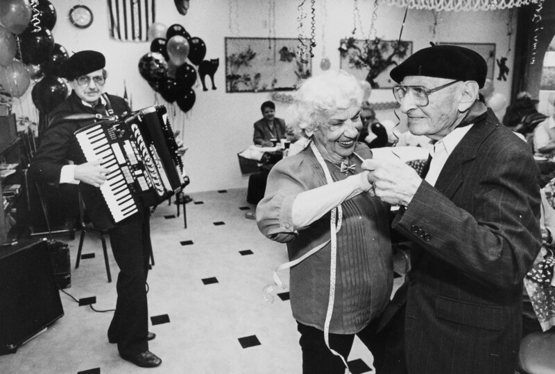 One of the beats we covered at the paper was a retirement community called Leisure World.  One Valentines Day they had a Sweethearts Dance and I got this keeper.