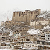 Leh, capital of Ladakh and its castle.