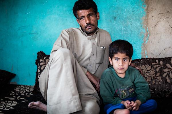 Two years after, father and son in the same refugee camp of the Bekaa Valley at the Syrian border.<br /> Bekaa Valley, Lebanon. May 2017.<br /> -----------<br /> Deux ans après, père et fils dans le même camp de réfugiés de la vallée de la Bekaa à la frontière syriene.<br /> Vallée de la Bekaa, Liban. May 2017.