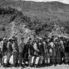 A line of villagers waiting to receive supplies provided by the Canadian NGO CECI minutes before the important aftershock of May 12th.<br /> Organization: CECI<br /> Gorkha, Nepal. May 2015.<br /> ---------<br /> Un groupe de villageois attendent en ligne pour recevoir des provisions fournies par l'ONG canadienne CECI, quelques minutes à peine avant la réplique importante du 12 mai.<br /> Organisme: CECI<br /> Gorkha, Népal. Mai 2015.