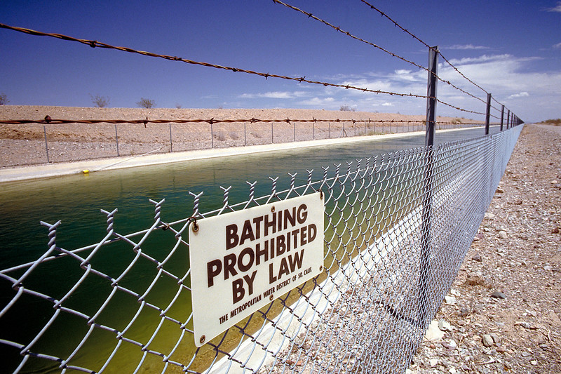 Irrigation Canal from Colorado River, Central California