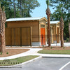 Allison Ramsey Architects designed the clubhouse and swimming pool pavilion at Overlook at Battery Creek in Beaufort, South Carolina.