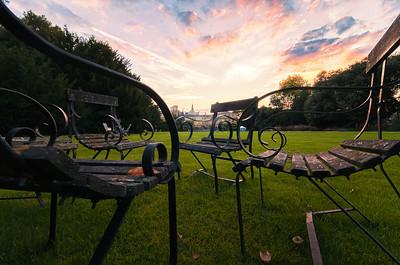 Trinity College sunset