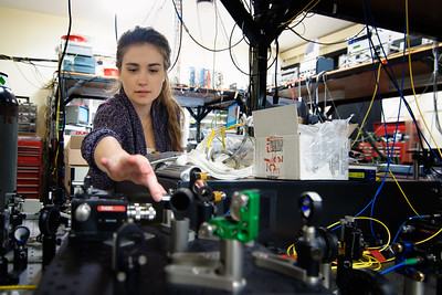 Inside an atomic and laser physics lab