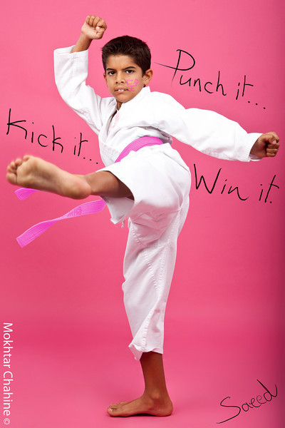 """Karate Cure""<br /> <br /> Punch it.. Kick It.. Win It.<br /> <br /> Photography : Mokhtar Chahine<br /> Photography Concept & Direction : Hala Dakhil<br /> Make-up : Hala Dakhil"