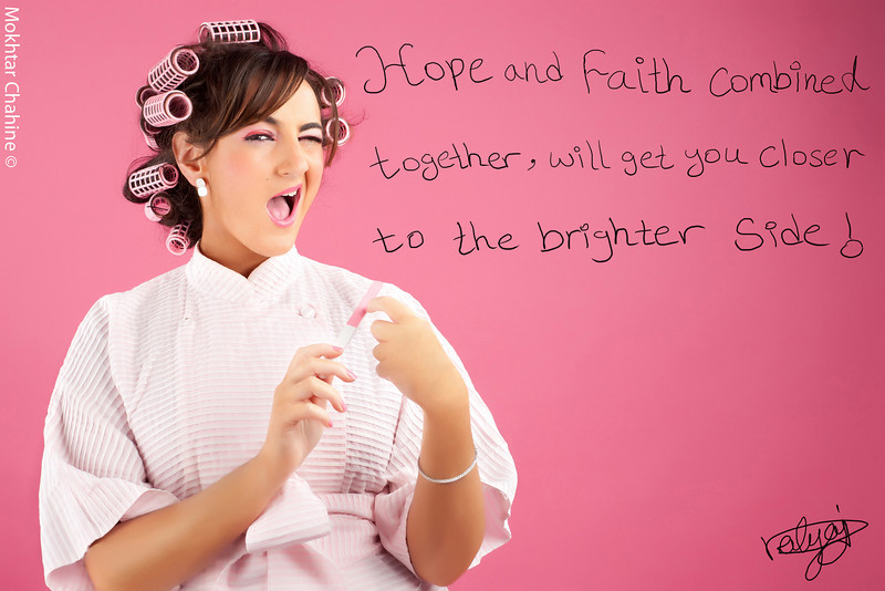 """""""The Perfectionist""""<br /> <br /> Hope & faith combined together will get you closer to the brighter side.<br /> <br /> for better viewing quality please visit: <a href=""""http://www.mokhtarchahine.com/Projects/PINK"""">http://www.mokhtarchahine.com/Projects/PINK</a><br /> <br /> Photography : Mokhtar Chahine<br /> Photography Concept & Direction : Hala Dakhil<br /> Make-up : Inas Hammoud"""