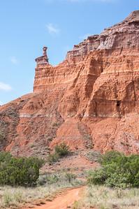 Capitol Peak, Lighthouse Trail, Palo Duro Canyon, Canyon, TX (Sep 2018)
