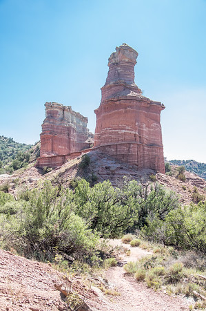 Lighthouse rock, Lighthouse Trail, Palo Duro Canyon, Canyon, TX (Sep 2018)