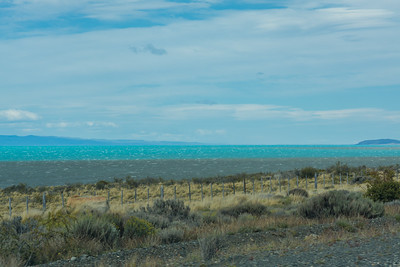 Driving past Lago Argentino