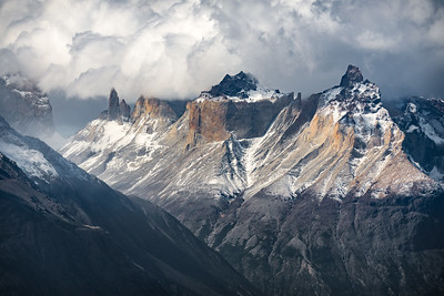 Storm brewing over the Cordillera Paine
