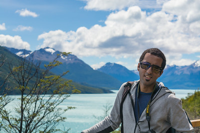 Vinesh in Los Glaciares National Park