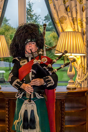 The Dromoland Castle  was our first stop on our Week in Ireland Tauck Tour. The Irish bagpiper was a surprise guest for dinner.  What a great performance he provided as we started our adventure