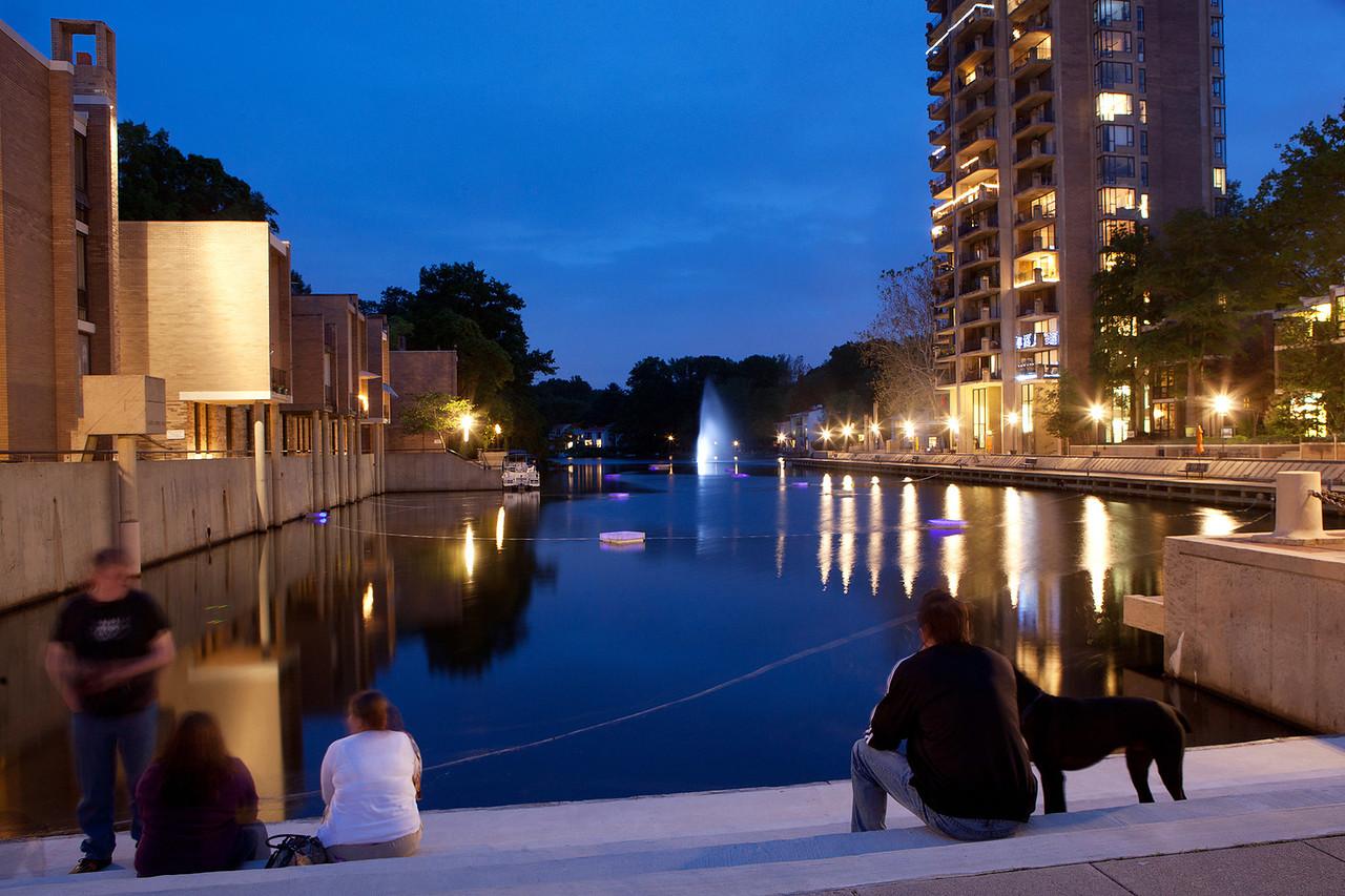 Lake Anne Plaza evening