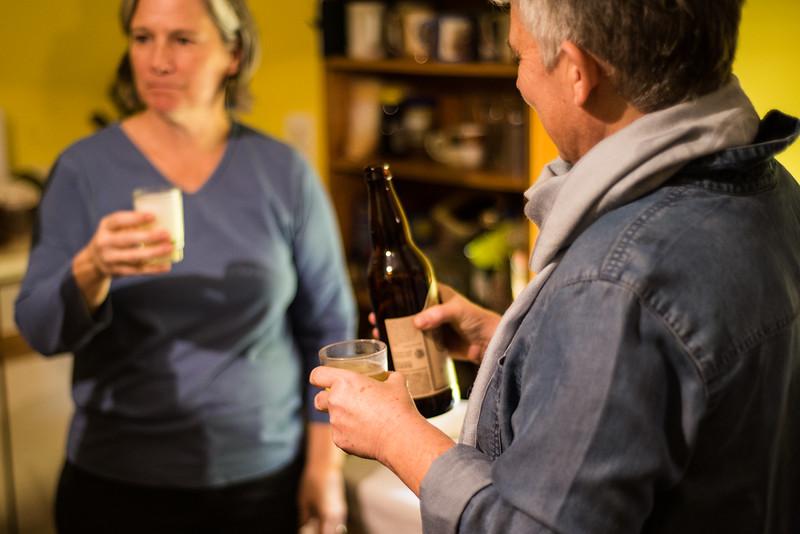Taste testing some cider